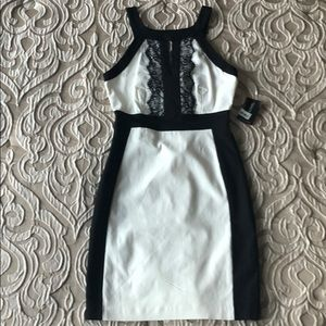 NWT black and White Cocktail Dress